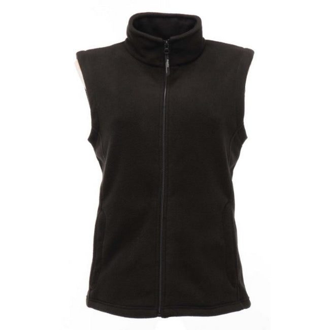 Black - Front - Regatta Womens-Ladies Micro Fleece Bodywarmer - Gilet