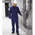 Navy - Back - Warrior Mens Stud Front Coverall