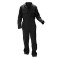 Black - Front - Warrior Mens Stud Front Coverall