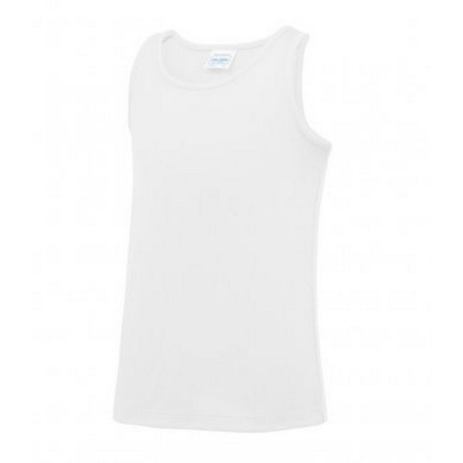 Arctic White - Front - AWDis Childrens-Kids Just Cool Sleeveless Vest Top