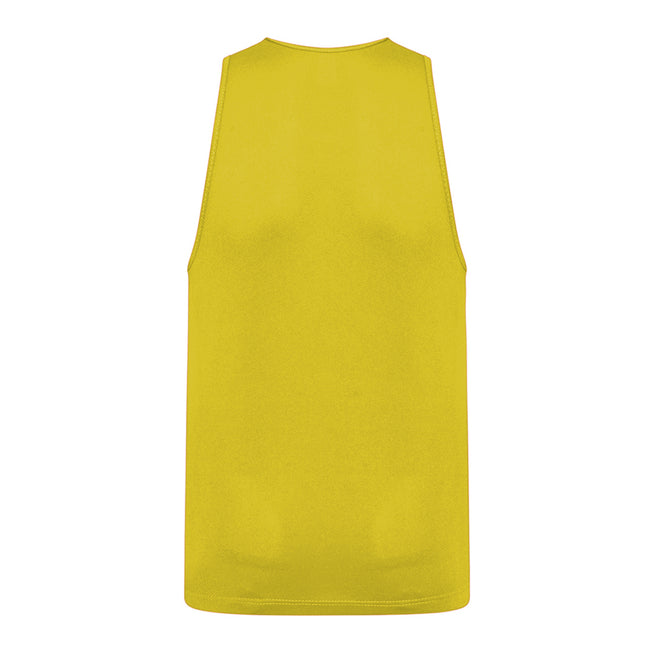 Sun Yellow - Back - AWDis Childrens-Kids Just Cool Sleeveless Vest Top