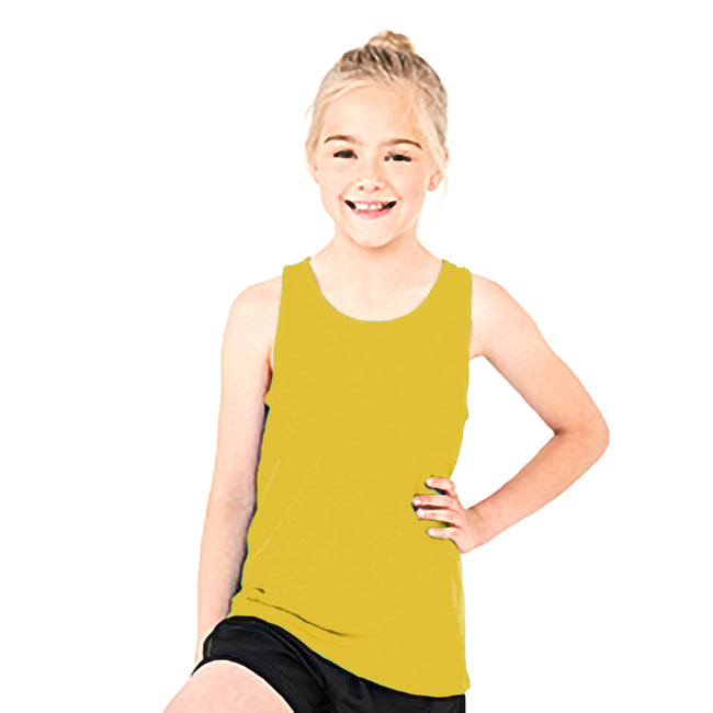 Sun Yellow - Side - AWDis Childrens-Kids Just Cool Sleeveless Vest Top