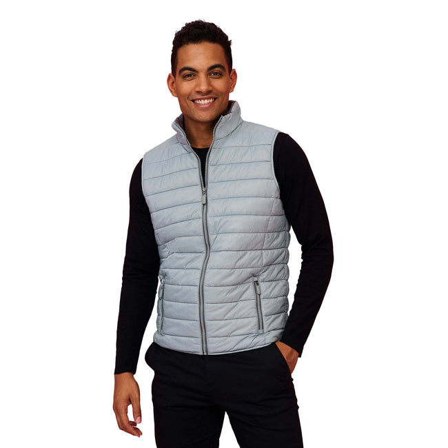 Navy - Back - SOLS Mens Wave Padded Water Repellent Bodywarmer-Gilet