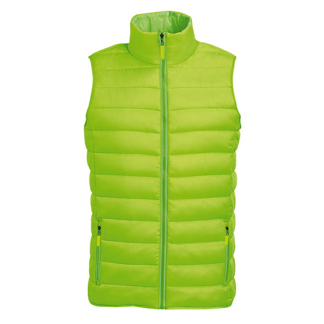 Black - Back - SOLS Mens Wave Padded Water Repellent Bodywarmer-Gilet