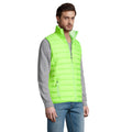Black - Side - SOLS Mens Wave Padded Water Repellent Bodywarmer-Gilet