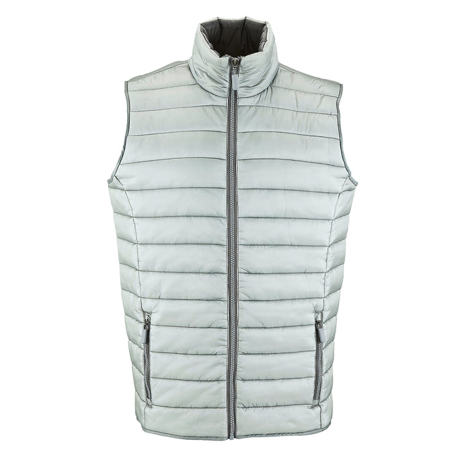 Navy - Front - SOLS Mens Wave Padded Water Repellent Bodywarmer-Gilet