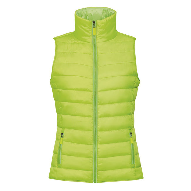 Neon Lime - Front - SOLS Womens-Ladies Wave Padded Water Repellent Bodywarmer-Gilet