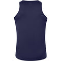 Navy-White - Back - Canterbury Mens Team Dry Sleeveless Singlet Sports Vest