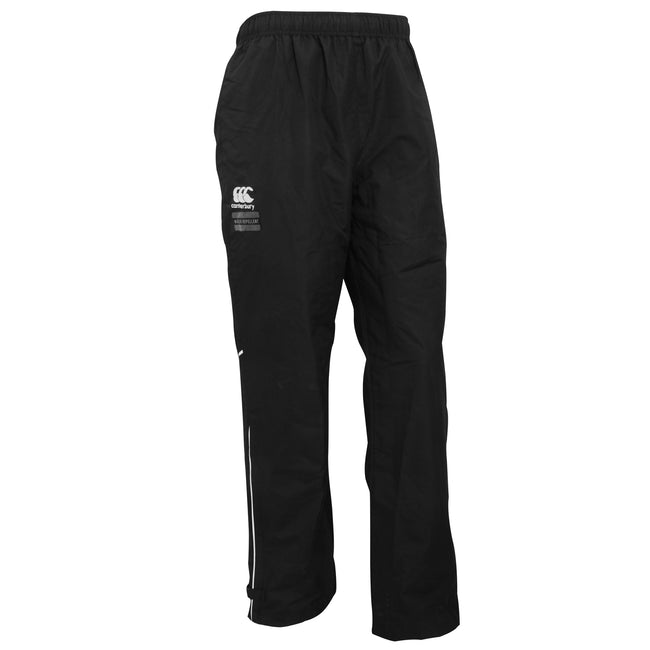Black-White - Front - Canterbury Mens Team Water Resistant Track Trousers