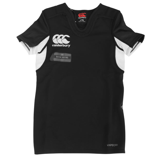 Black-White - Front - Canterbury Childrens-Kids Challenge Short Sleeve Rugby Jersey Top