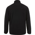 Black-White - Back - Canterbury Mens Team Zip Neck Micro Fleece