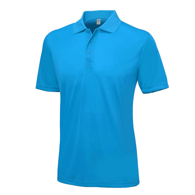Sapphire Blue - Front - AWDis Just Cool Mens Smooth Short Sleeve Polo Shirt