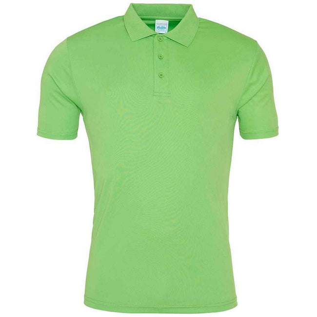 Sun Yellow - Front - AWDis Just Cool Mens Smooth Short Sleeve Polo Shirt