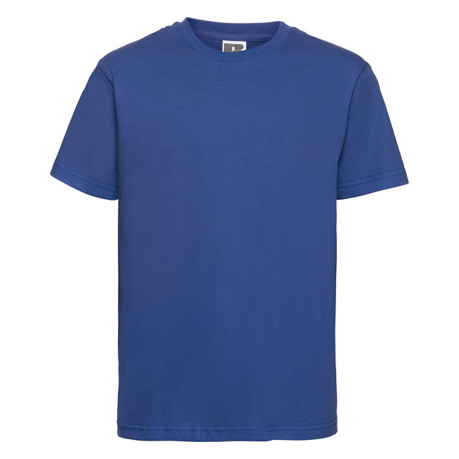 Bright Royal - Front - Russell Childrens-Kids Slim Short Sleeve T-Shirt