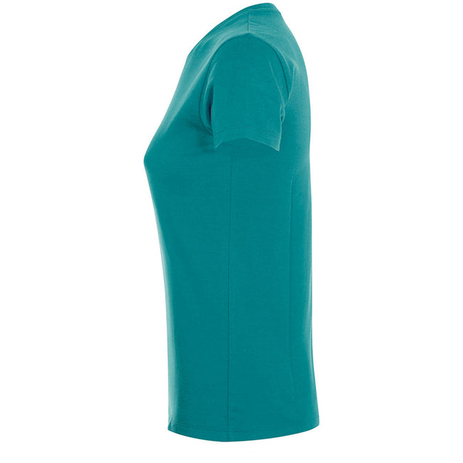 Pure Gray - Lifestyle - SOLS Womens-Ladies Regent Short Sleeve T-Shirt