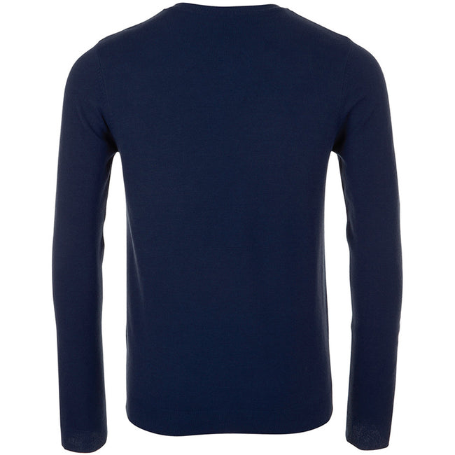 French Navy - Back - SOLS Mens Ginger Crew Neck Sweater