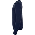 French Navy - Side - SOLS Mens Ginger Crew Neck Sweater