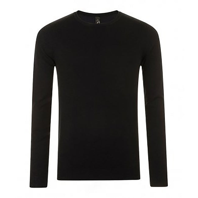Black - Front - SOLS Mens Ginger Crew Neck Sweater