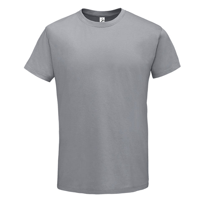 Pure Gray - Back - SOLS Mens Regent Short Sleeve T-Shirt