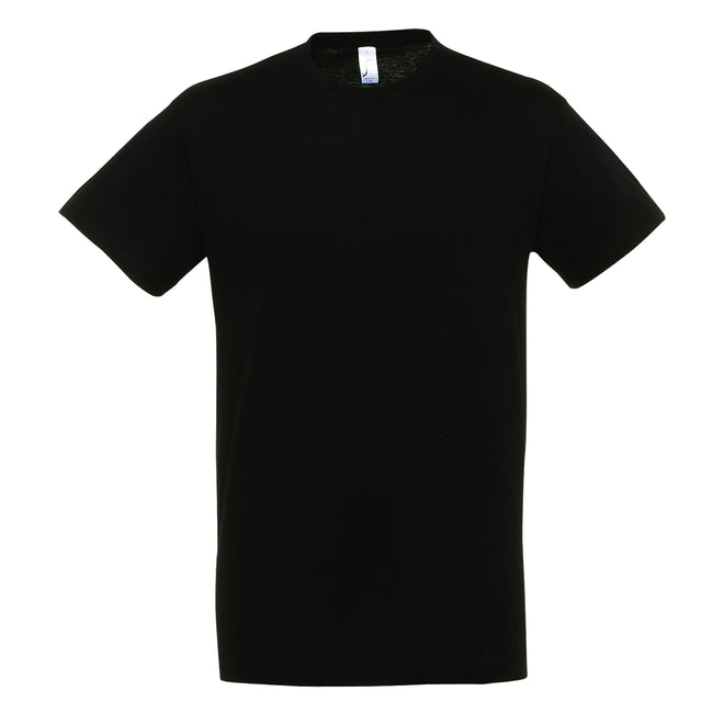 Deep Black - Side - SOLS Mens Regent Short Sleeve T-Shirt