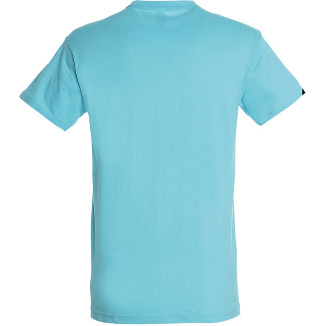 Aqua - Back - SOLS Mens Regent Short Sleeve T-Shirt