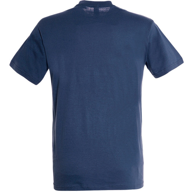 Denim - Back - SOLS Mens Regent Short Sleeve T-Shirt