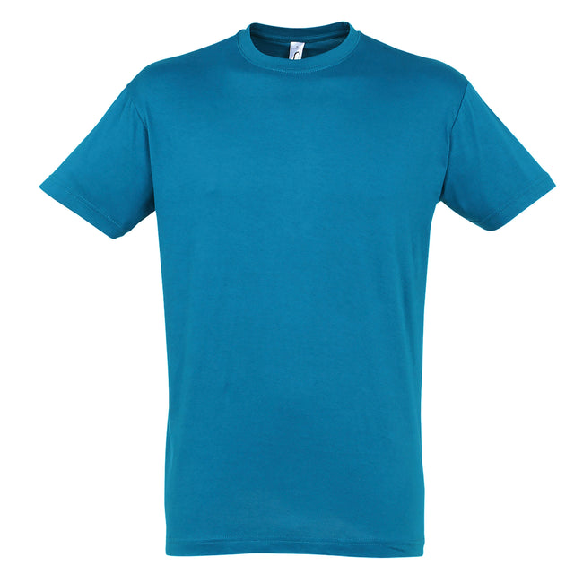 Blue Atoll - Front - SOLS Mens Regent Short Sleeve T-Shirt