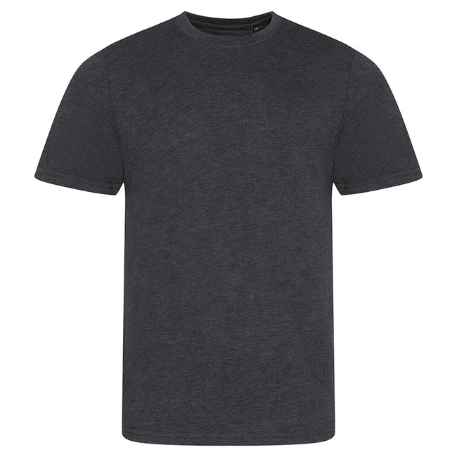 Heather Gray - Front - AWDis Mens Tri Blend T Shirt