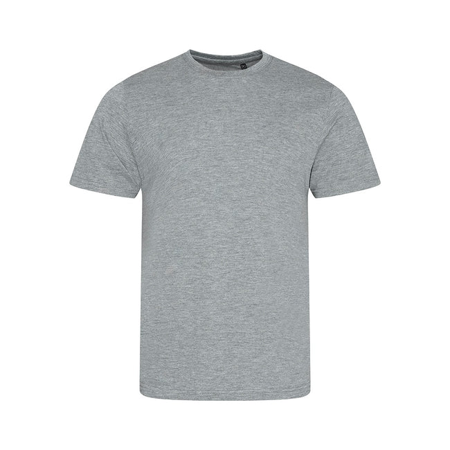 Heather Navy - Front - AWDis Mens Tri Blend T Shirt