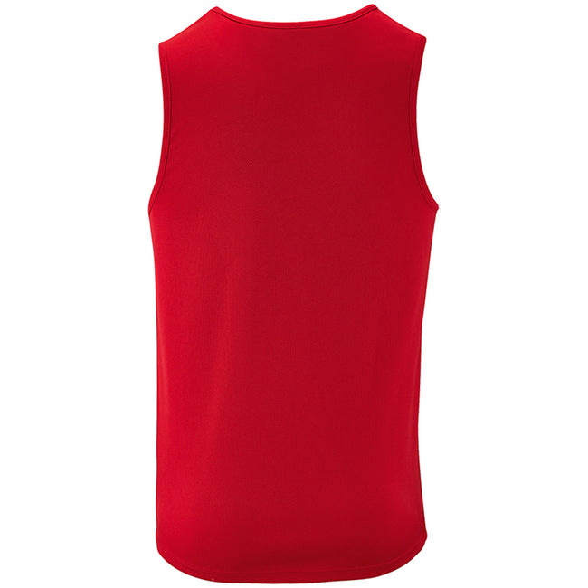 Red - Back - SOLS Mens Sporty Performance Tank Top