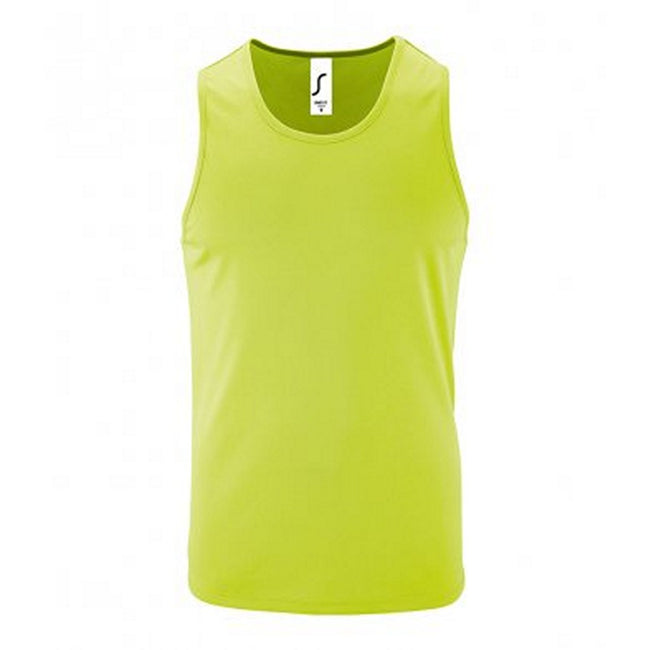 Apple Green - Front - SOLS Mens Sporty Performance Tank Top