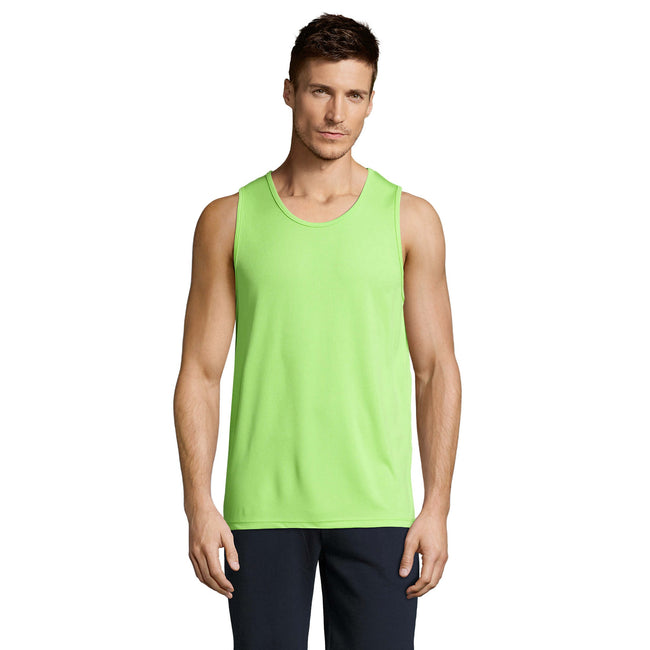 Apple Green - Back - SOLS Mens Sporty Performance Tank Top