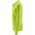 Apple Green - Side - SOLS Mens Perfect Long Sleeve Pique Polo Shirt