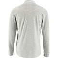 Ash - Back - SOLS Mens Perfect Long Sleeve Pique Polo Shirt