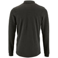Charcoal Marl - Back - SOLS Mens Perfect Long Sleeve Pique Polo Shirt