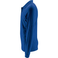 Royal Blue - Side - SOLS Mens Perfect Long Sleeve Pique Polo Shirt