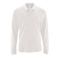 White - Front - SOLS Mens Perfect Long Sleeve Pique Polo Shirt