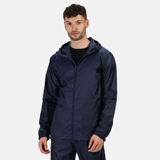 Navy - Back - Regatta Pro Mens Packaway Waterproof Breathable Jacket