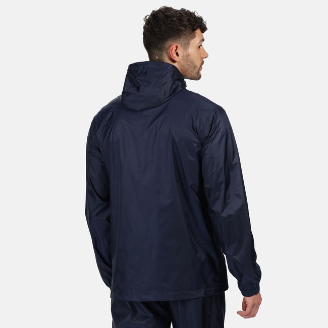 Navy - Side - Regatta Pro Mens Packaway Waterproof Breathable Jacket