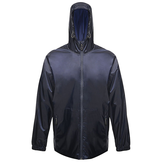 Navy - Front - Regatta Pro Mens Packaway Waterproof Breathable Jacket
