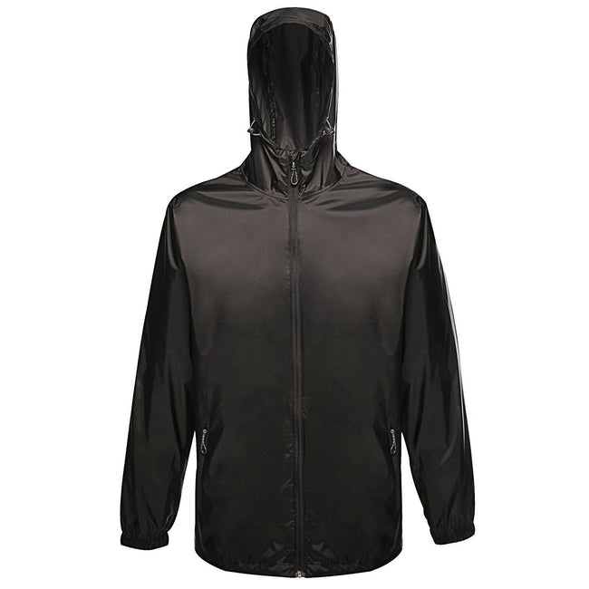Black - Front - Regatta Pro Mens Packaway Waterproof Breathable Jacket