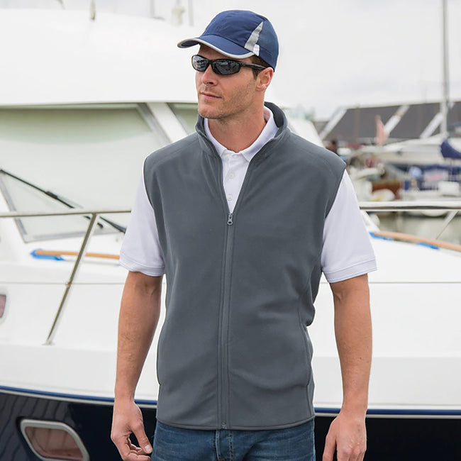 Red - Front - Result Core Mens Micro Fleece Gilet