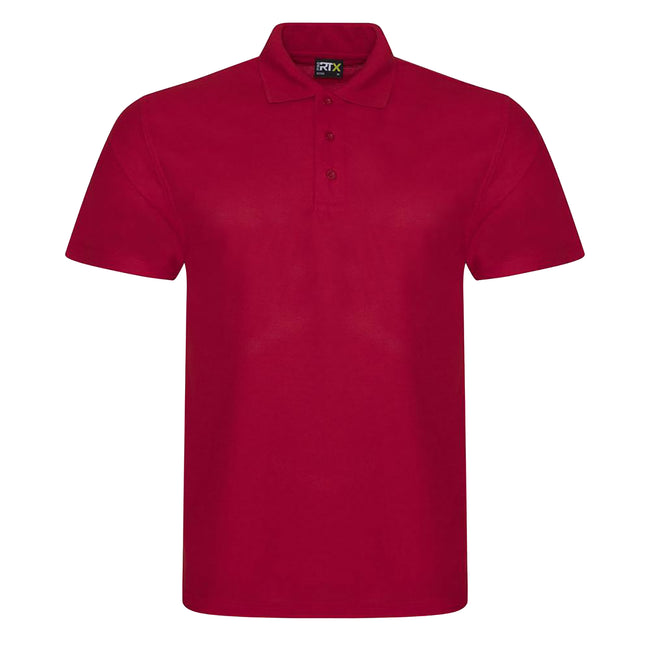 Red - Front - PRO RTX Mens Pro Pique Polo Shirt