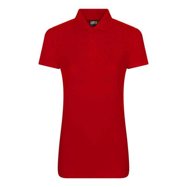 Red - Front - PRO RTX Womens-Ladies Pro Piqu Polo Shirt