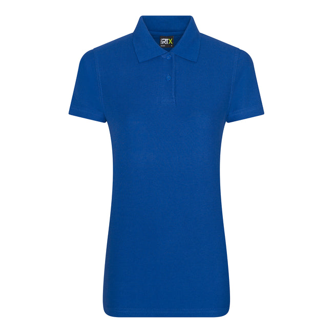 Royal - Front - PRO RTX Womens-Ladies Pro Piqu Polo Shirt