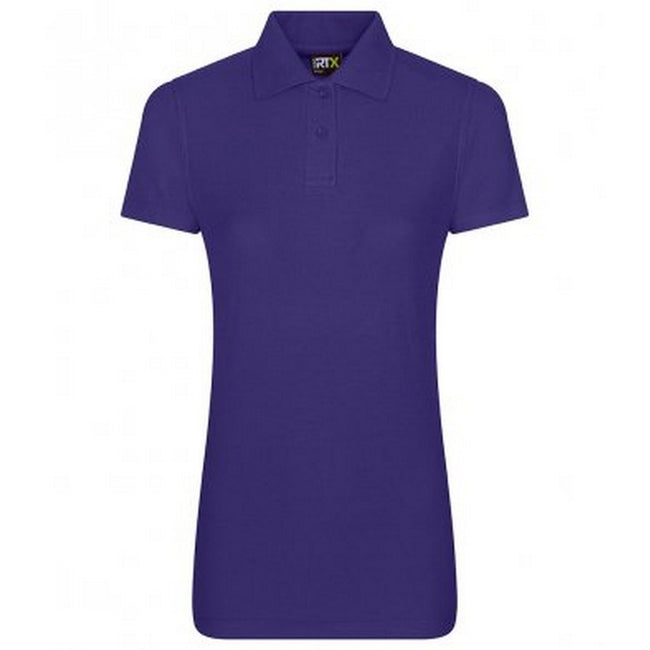 Purple - Front - PRO RTX Womens-Ladies Pro Piqu Polo Shirt