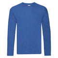 Royal - Front - Fruit Of The Loom Mens Original Long Sleeve T-Shirt