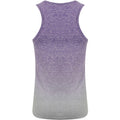 Purple-Light Gray Marl - Back - Tombo Womens-Ladies Seamless Fade Out Vest