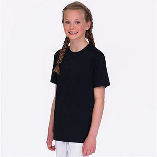 Jet Black - Back - AWDis Childrens-Kids Cool Smooth T-Shirt
