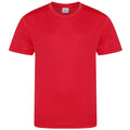 Red - Front - AWDis Childrens-Kids Cool Smooth T-Shirt